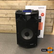Lenco PMX-250 bluetooth PA speaker DJ mixer incl. draadloze microfoon Compleet In Doos