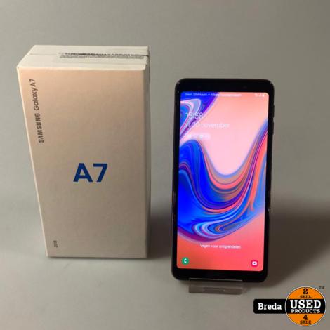 samsung A7 2018 64GB Gold In doos Met Garantie