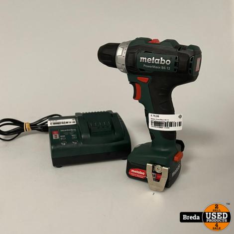 Metabo PowerMaxx BS 12 Schroefboormachine | Met accu + lader | Met garantie