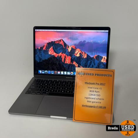 MacBook pro 13'' 2017 i-5 8GB 128GB SSD | Ingebrand scherm met garantie