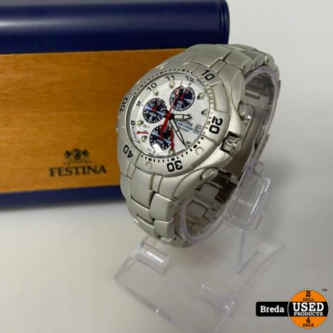 FESTINA 8905/05 chronograaf alarm datum   Extra schakels   Met Garantie