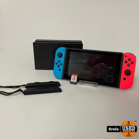 Nintendo Switch Rood/Blauw   Met Mario Party   Met garantie