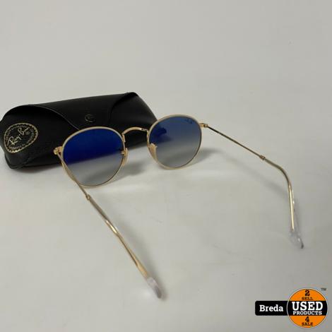 Rayban Round Metal Gold Zonnenbril | Nette staat met garantie