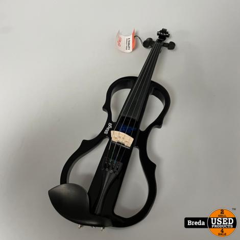 Stagg EVN X 4/4 BK Electrische Viool Zwart   Overcompleet   Nettte staat