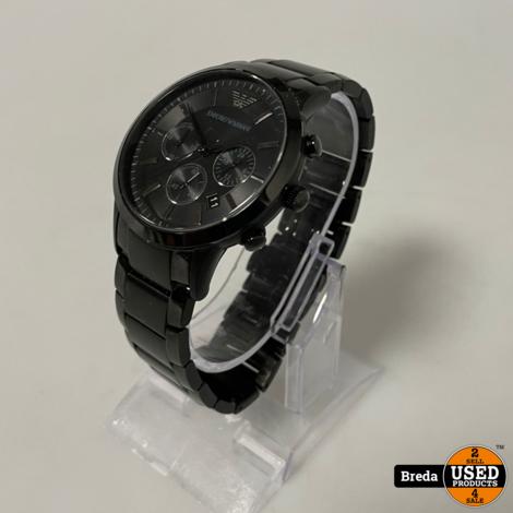 Armani Horloge Zwart | Met garantie