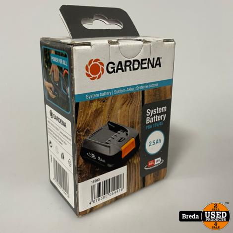 Gardena 18V 2.5Ah 3stuks Batterij   Nieuw in doos