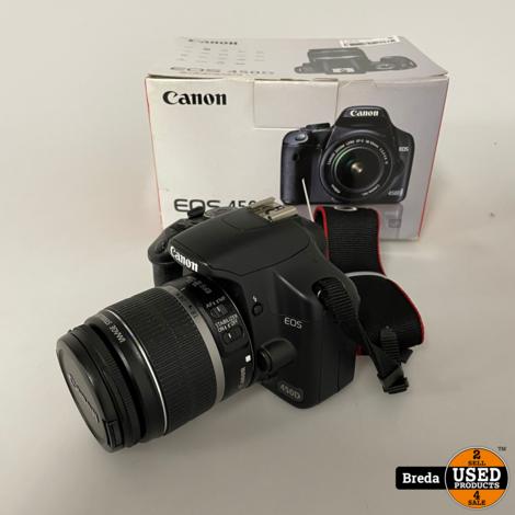 Canon Eos 450D + EF-S 18-55 Lens Compleet in Doos|met Garantie
