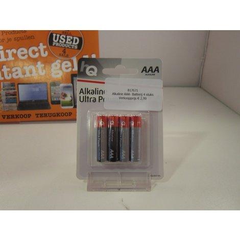 Alkaline AAA- Batterij 4 stuks
