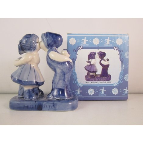 delft kissing couple beeldje