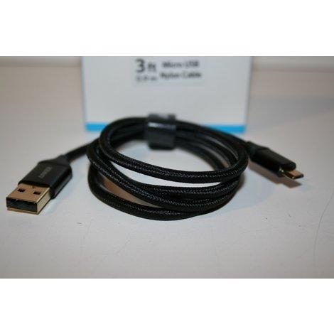 Anker Micro Usb kabel Nylon Nieuw! 1 maand garantie