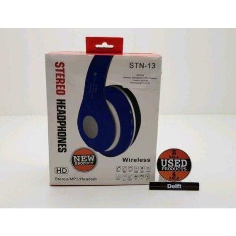 wireless headphone STN-13 blauw 1 maand garantie
