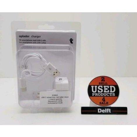 USB C oplaad blok met kabel nieuw 1 maand garantie