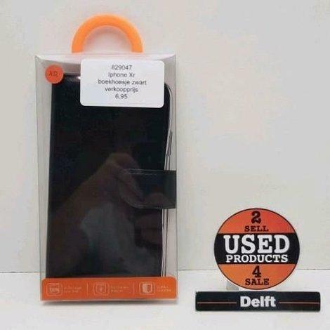 Iphone XR boekhoesje zwart