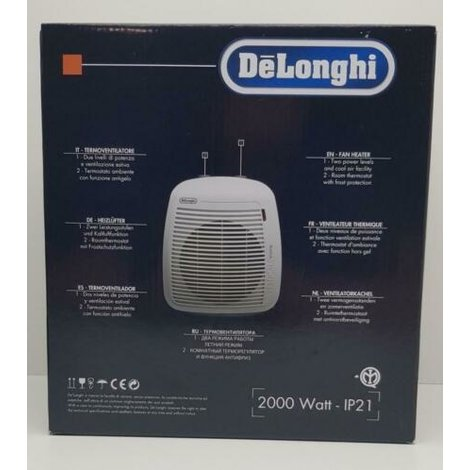 DeLonghi termoventilator fan heater 1 maand garantie