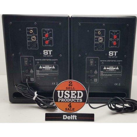 citronic st-6//130Watt//active studio monitors//set//1 maand garantie