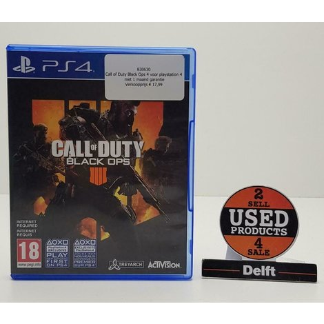 Call of Duty Black Ops 4 voor playstation 4 met 1 maand garantie