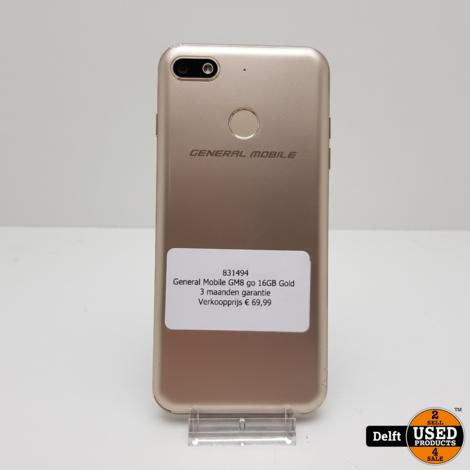 General Mobile GM8 go 16GB Gold 3 maanden garantie