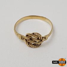 Gouden damesring 14krt //maat 18//1.53 gram//1 maand garantie