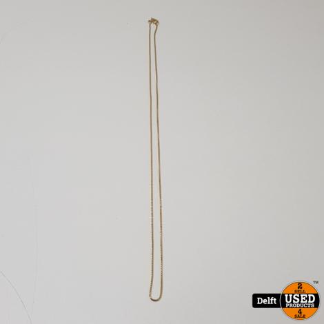 Gouden hanger ketting 14krt//60cm//6.1 gram//1 maand garantie