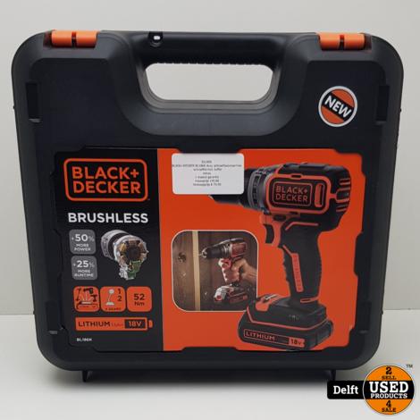 BLACK+DECKER BL186K Accu schroefboormachine - schroeftol incl. koffer//nieuw//1 maand garantie