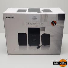 Sweex Speaker 2.1//3.5mm jack//11W//zwart//Nieuw//2 jaar garantie