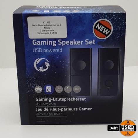 Nedis Gaming-luidsprekers 2.0//Nieuw//2 jaar garantie