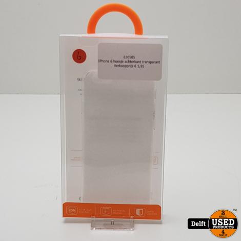 IPhone X hoesje achterkant transparant