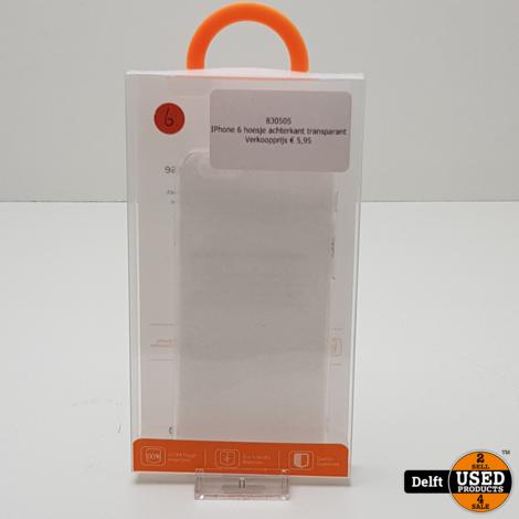 IPhone 11 Pro hoesje achterkant transparant