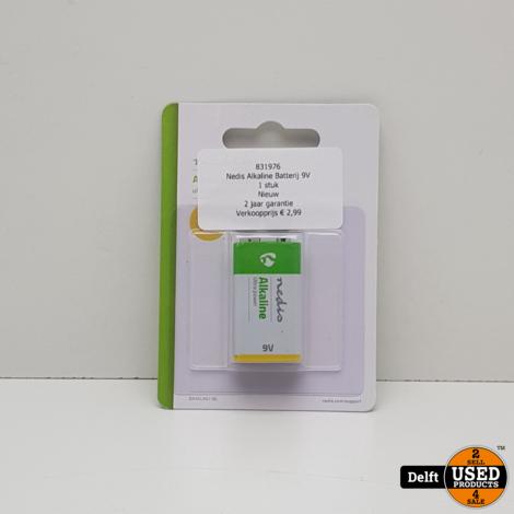 Nedis Alkaline Batterij 9V//1 stuk//Nieuw//2 jaar garantie