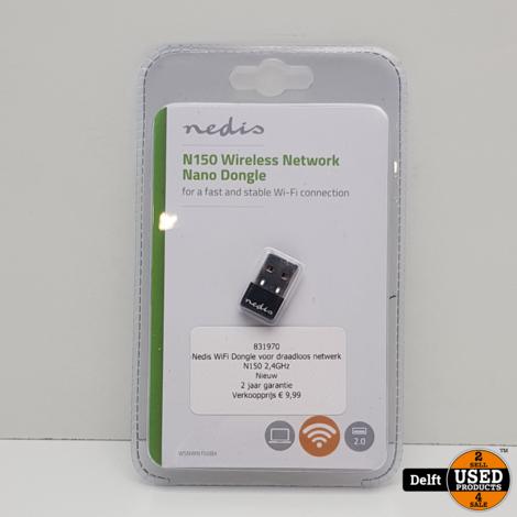 Nedis WiFi Dongle voor draadloos netwerk//N150//2,4GHz//Nieuw//2 jaar garantie