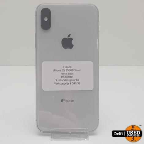 iPhone Xs 256GB Silver//gebruikt//3 maanden garantie