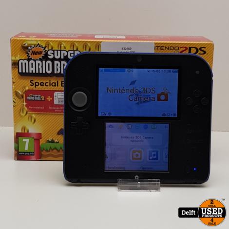 Nintendo 2DS incl oplader krassen op scherm garantie