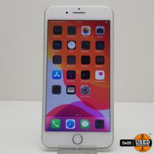 apple iPhone 8 plus 64GB Silver nette staat 3 maanden garantie