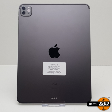 iPad Pro 2020 11 inch 1TB WiFi/4G//Nieuw//Apple garantie