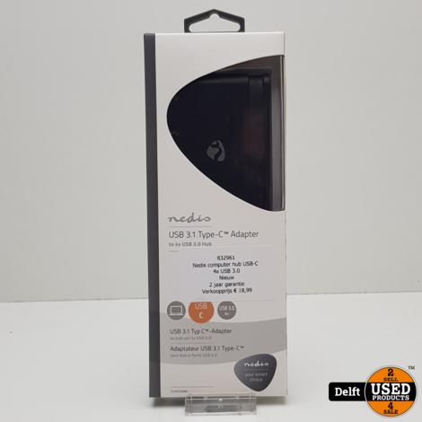 Nedis computer hub USB-C 4x USB 3.0 Nieuw 2 jaar garantie