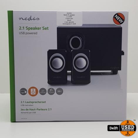 Nedis PC-speaker//2.1/33W//3.5mm jack//Nieuw//2 jaar garantie