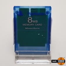 Playstation 2 memorycard 8 MB blauw garantie