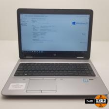 HP Probook 650 G2 i5-6300U Win10 2.5GHz 8GB 250SSD nette staat