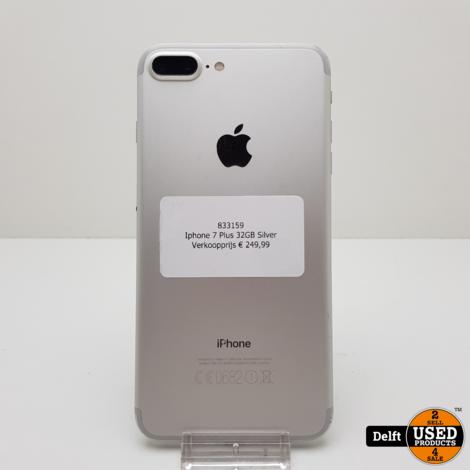 iPhone 7 Plus 32GB Silver 3 maanden garantie