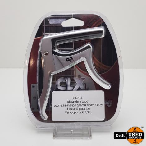 gitaarklem capo voor staalsnarige gitaren silver Nieuw 1 maand garantie