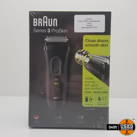 Braun 3000S scheerapparaat nieuw Garantie