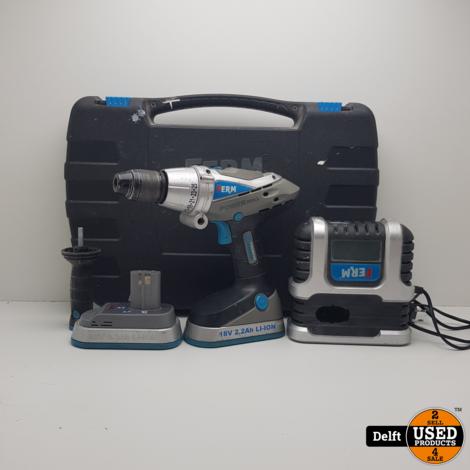 Ferm power drill accu schroeftol 1 maand garantie