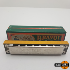 Bravo Hohner harmonica redelijke staat garantie