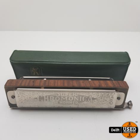 Super Chromonica Hohner harmonica redelijke staat garantie