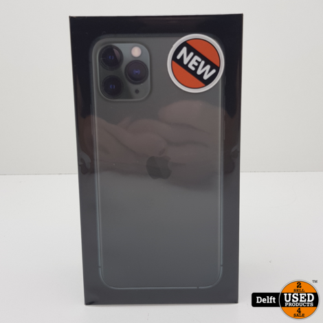iPhone 11 pro 64GB Midnight Green Nieuw in seal 27-08-2022