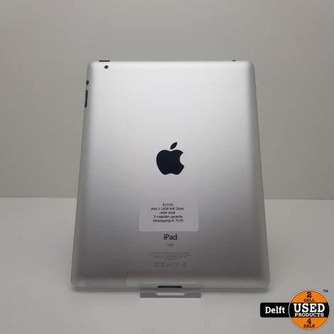 iPad 2 16GB Wifi Zilver nette staat 3 maanden garantie