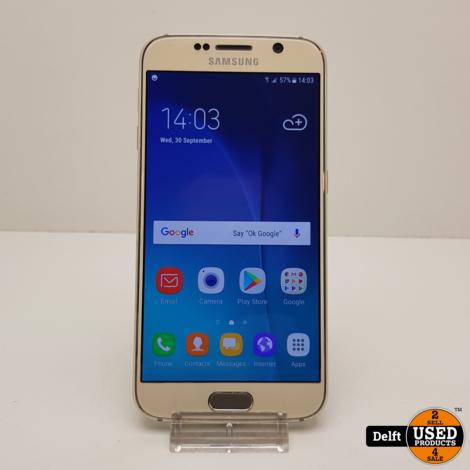 Samsung Galaxy S6 32GB Gold nette staat 3 maanden garantie