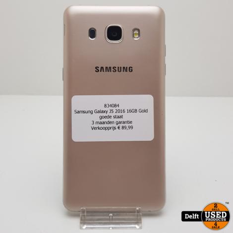 Samsung Galaxy J5 2016 16GB Gold goede staat 3 maanden garantie