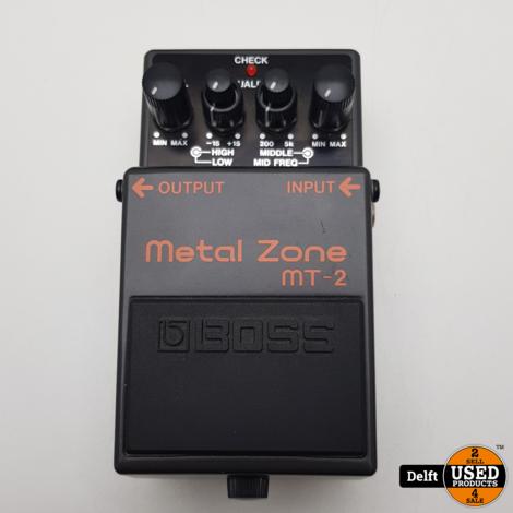 Boss Metal Zone MT-2 distortion pedaal zeer nette staat garantie