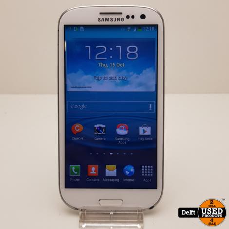 Samsung Galaxy S3 16GB White nette staat 3 maanden garantie